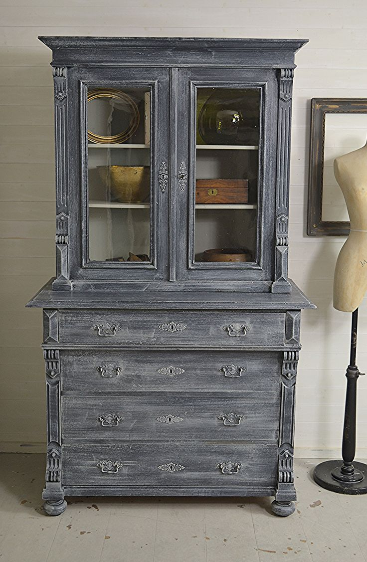 #letstrove This Stunning European Display Cabinet Has Been Painted In Farrow  U0026 Ball Railings With