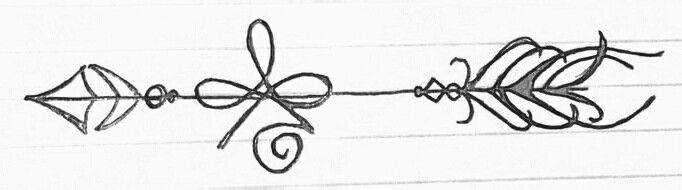 The tattoo i drew up the celtic symbol for strength with an arrow going through it. Arrows can only be shot by pulling it backward. When life is dragging you back by difficulties, it means it's going to launch you in to something great. So just focus and keep aiming.