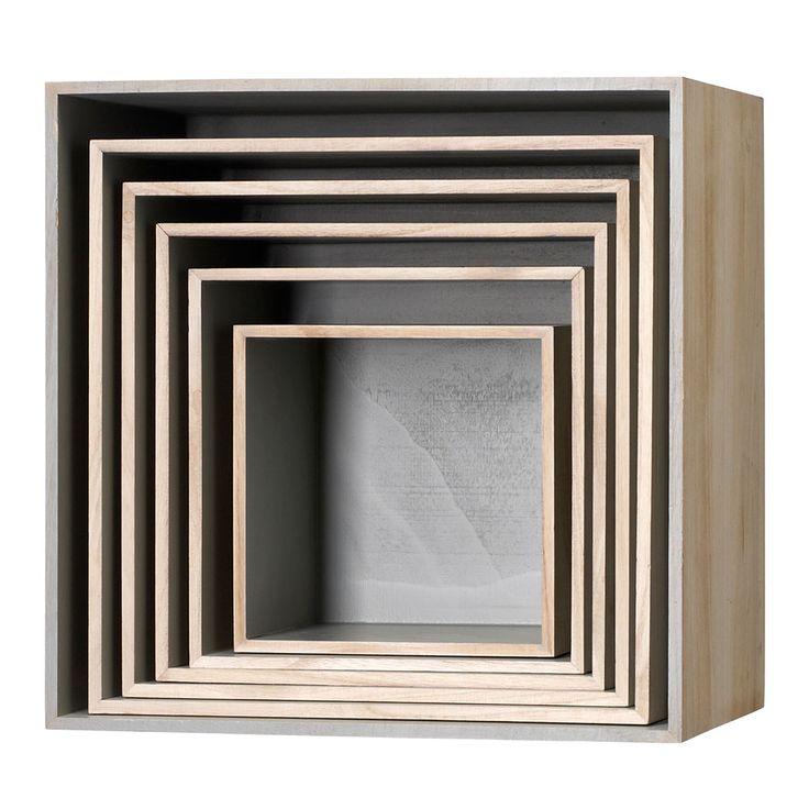 Wood Storage 6pcs, Bloomingville