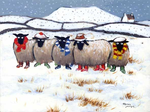 Winter Woollies by Thomas Joseph, love their wee wellies ♥