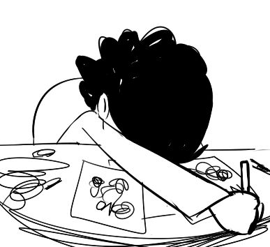 When you really want to draw something, but your hand just won't cooperate with you (gif)