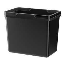 IKEA - VARIERA, Recycling bin, 22 l, , Folding handle makes it easy to carry, and keeps the trash bag in place.Rounded corners for easy cleaning.