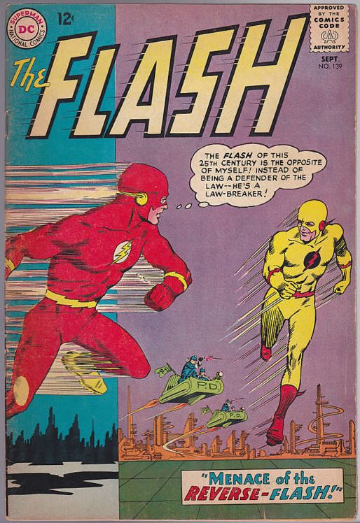 The Flash #139, Notice the cityscape changing