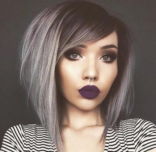Silver hair plus dark roots