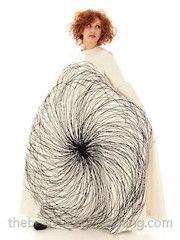Vintage Vuokko Nurmesniemi A-Line B & W Graphic Gown Cotton 1970s Bust 38 - The Best Vintage Clothing  - 6