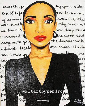 """Sade"" painting #kltart #sade #sadeadu #smoothoperator #nigerian #nigeria #naija #nigerianwoman #sweetesttaboo #melanin #blackwoman #blackgirlmagic #africanamericanart #blackart #80s #1980s #80smusic #1980sfashion #80sfashion #chicagoart #chicagoartist"
