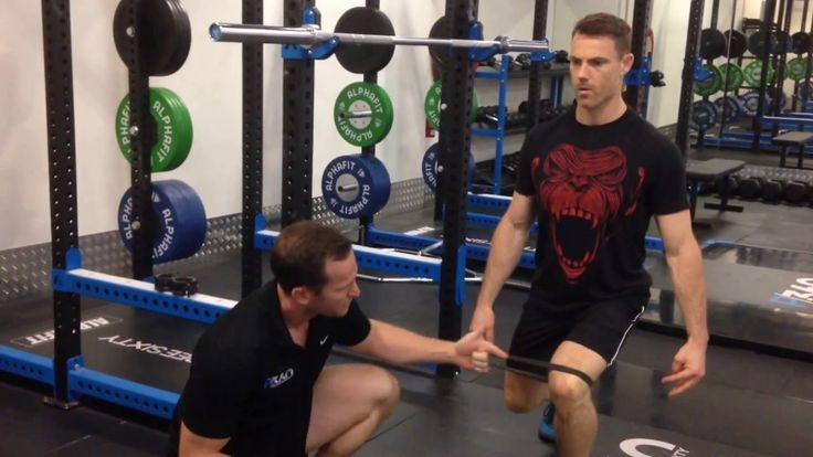 Solution for Knee Valgus During a Squat - YouTube