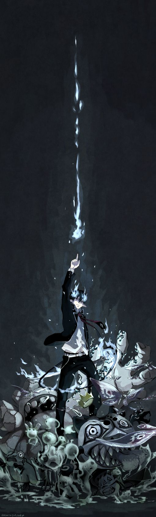 Blue Exorcist (Ao No Exorcist)... Rin is definitely one of my favorite anime characters ever...