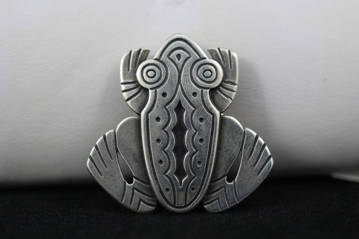 Spectacular RARE Vintage JAMES AVERY Sterling Silver Overlay FROG Brooch / Pin | Good Ole Tom
