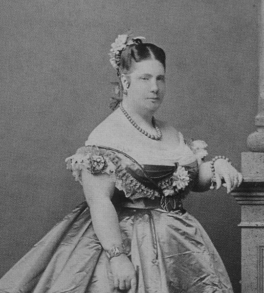 Infanta Amalia Philippina of Spain (Spanish: Amalia Felipina del Pilar Blasa Bonisa Vita Rita Lutgard Romana Judas Tadea Alberta Josefa Ana Joaquina Los Doce Apostolicos Bonifacia Domenica Bibiana Veronica) (1834–1905) daughter of Infante Francisco  younger brother of King Fernando VII of Spain, and wife, Princess Luisa Carlotta of Bourbon-Two Sicilies. Infanta Amelia's mother was the niece of her father.  Winterhalter, if you look at the portrait also on this board, was a terrible…