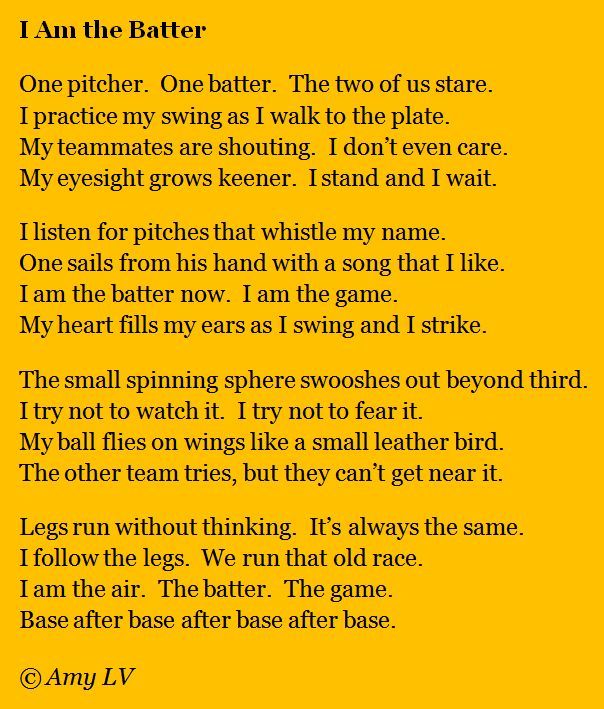 Funny Baseball Poems | 80 - I Am the Batter & Ripple Sketches