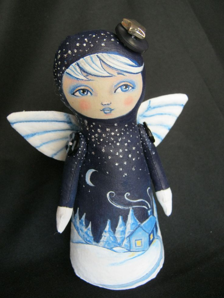 Starry Night Angel by Hally Levesque