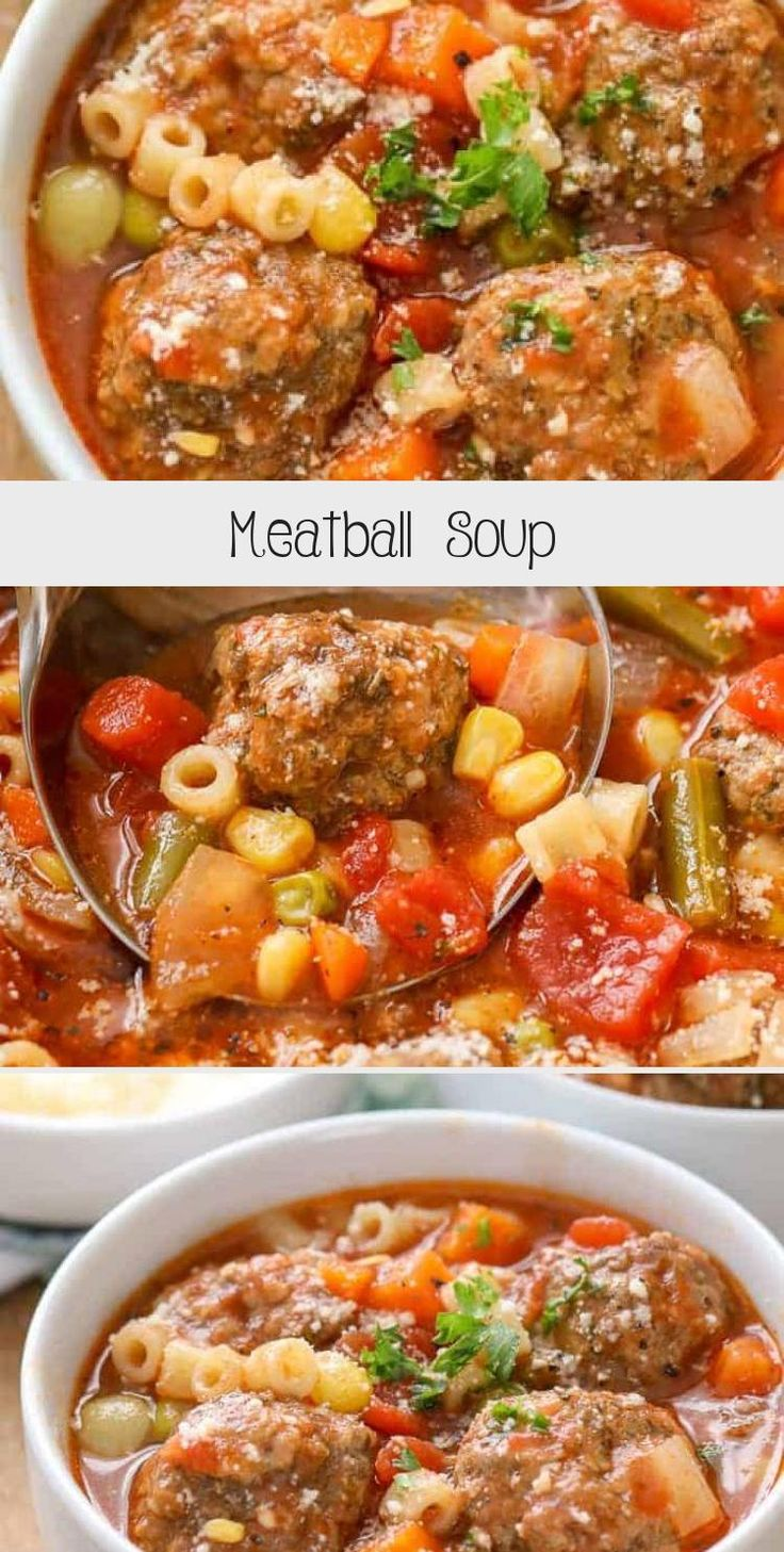 This easy meatball soup is one of our favorite winter recipes! It is so warming and filling! #spendwithpennies #meatball #meatballs #meatballsoup #soup #italianweddingoup #warmwinterrecipes
