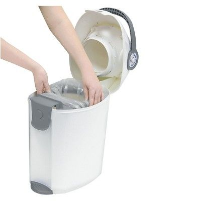 Baby Trend Diaper Champ Deluxe Diaper Pail -Gray/White, Gray/White