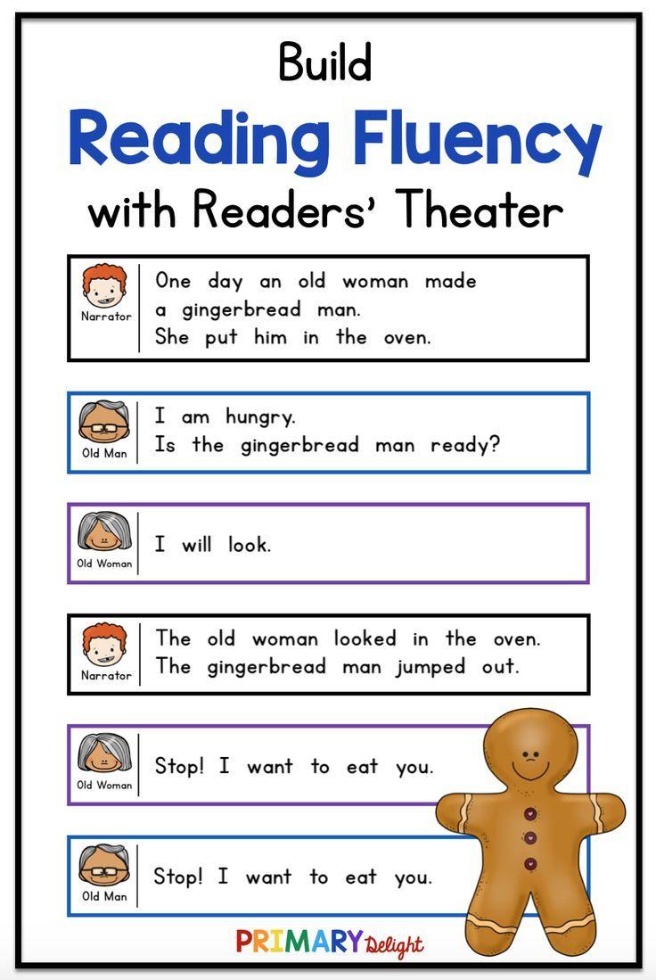 Gingerbread Man Readers Theater Readers Theater Kindergarten Readers Kindergarten Reading [ 1099 x 736 Pixel ]