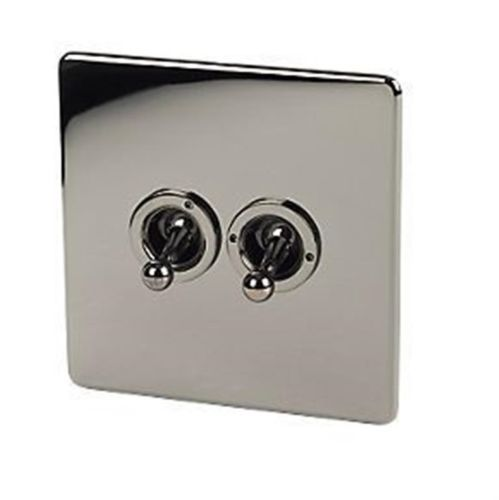 Crabtree-7T72-HPC-10A-2-Gang-2-Way-Screwless-Toggle-Light-Switch-brushed-Chrome