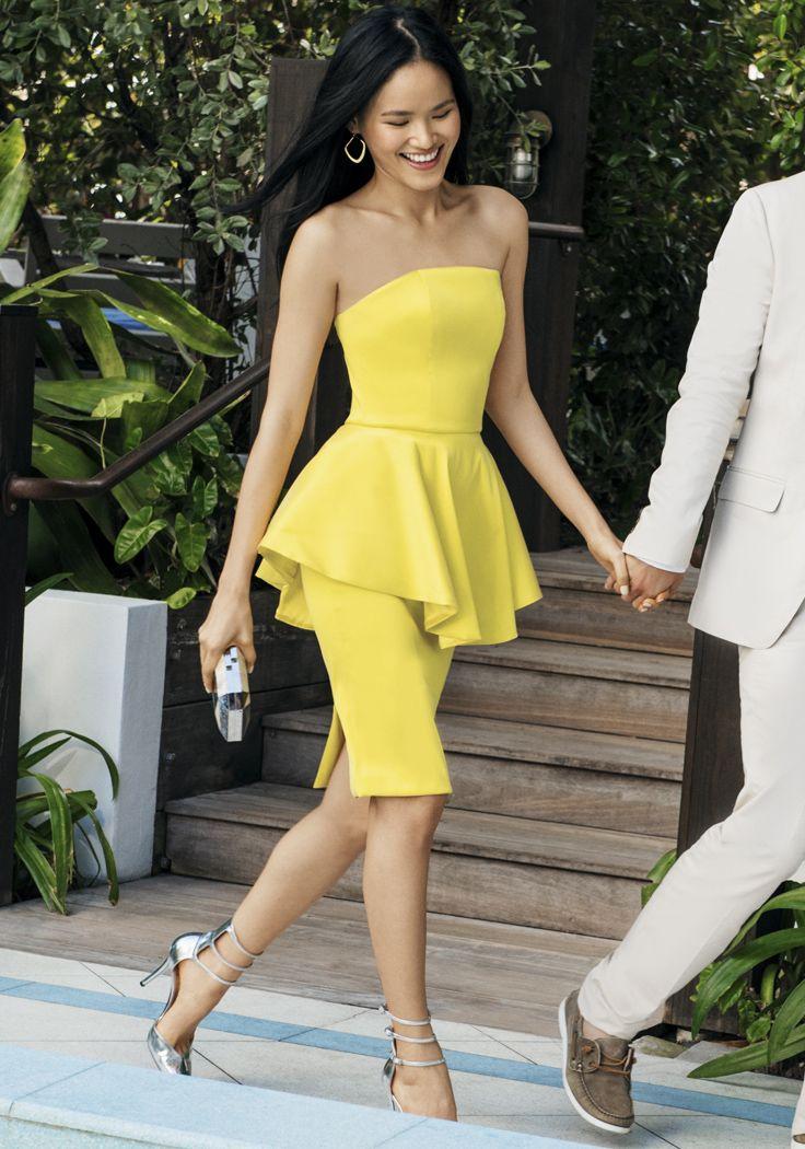 636 best peplum images on pinterest feminine fashion for Peplum dresses for wedding guest