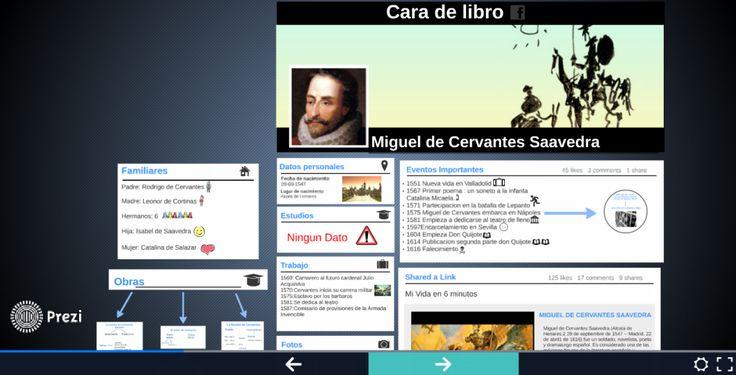 Gracias a vosotros he descubierto que Miguel de Cervantes tiene un perfil de Facebook (o cara de libro…). Os presento a continuación los trabajos que habéis realizado sobre el autor del Don Q…