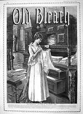 Old Antique Print 1892 Advertisement Bleach Irish Linen Great Britain 384M145