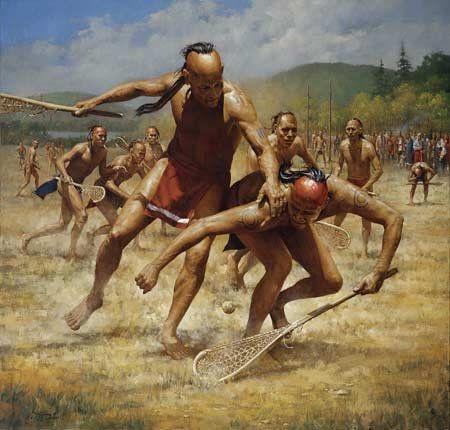 Les jeux Amérindiens. - Histoire