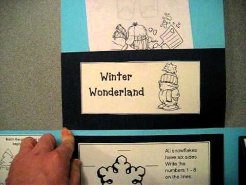Winter Wonderland Lapbook - YouTube