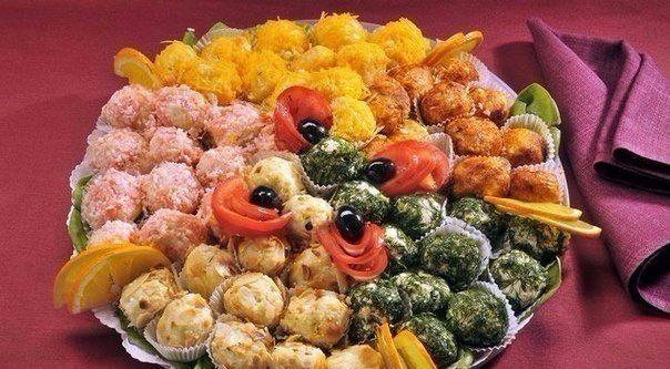 5 ЗАКУСОК В ВИДЕ ШАРИКОВ 1. Оригинальный салат в шариках ☼ Рецепты