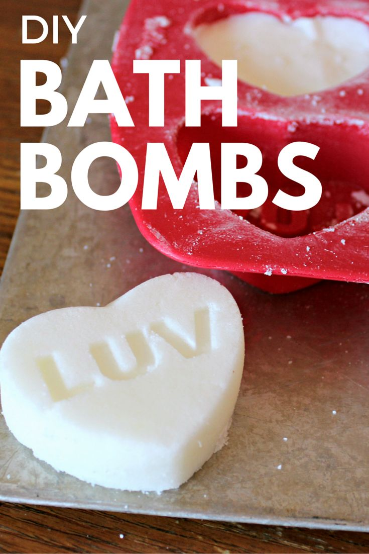 These DIY homemade bath bombs are so easy to make with only a few ingredients!  The cheap bath bombs you can make at home are a great gift idea for Valentine's day or a gift to yourself any day!  Try this recipe!