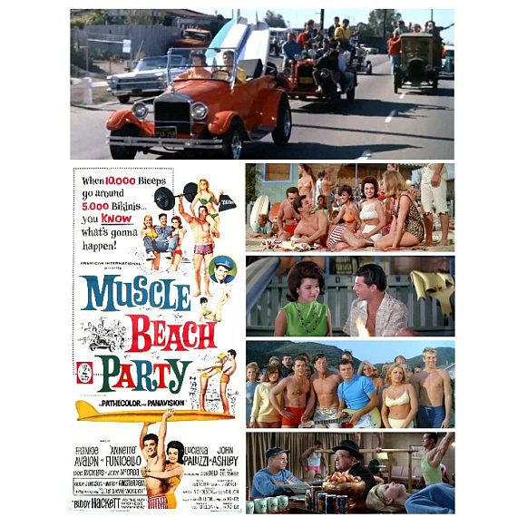 Muscle Beach Party 1964 Poster Frankie Annette Hot Rods Dick