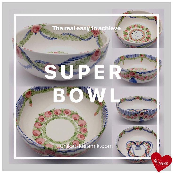 Time for real Super Bowl 😉@unikatkeramik #handpainted  #tableware #brigittehernuss #homedesign #interior #unique #geschirr #superbowl