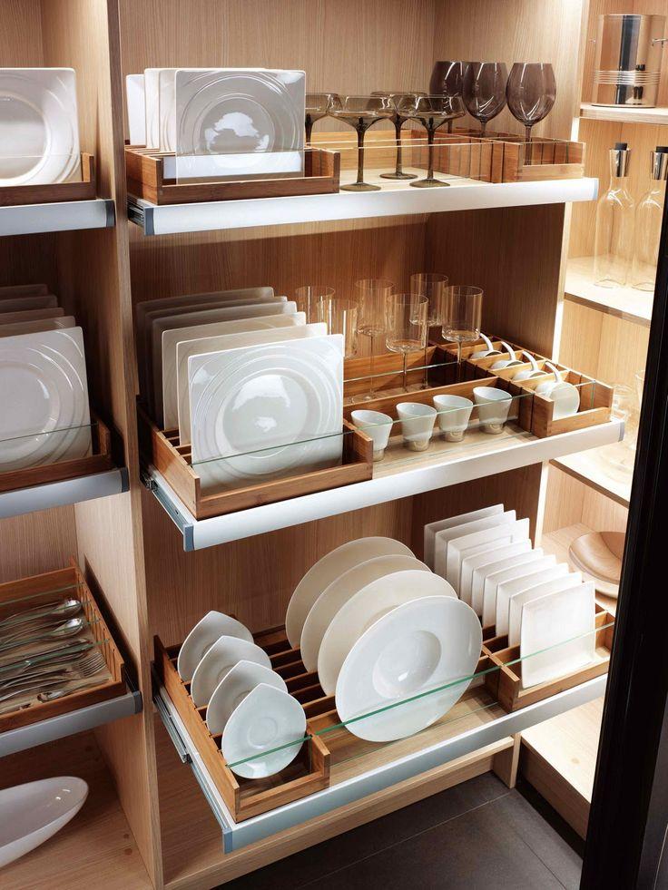 organized dish racks