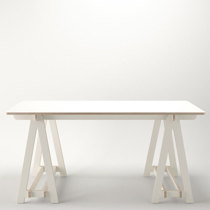 Captivating Trestle Table From Unto This Lasts. £145 White/£175 Wood.  Http://www.untothislast.co.uk/Tables/T Table.html | WishShift | Pinterest  | Trestle Tables, ...