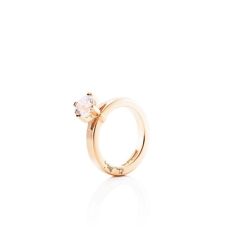 Dolce Vita Pink - Guld med diamanter - Ringar - Efva Attling