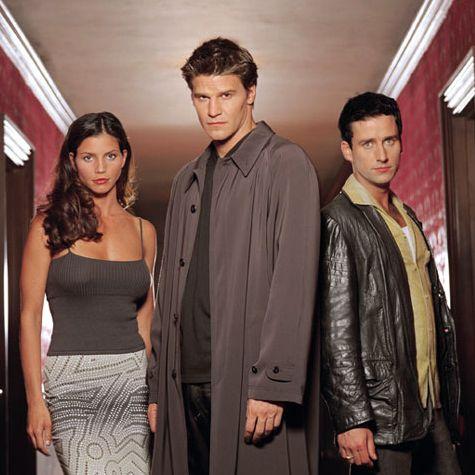 Angel   (1999-2004)  season 1 Angel (David Boreanaz) Cordelia Chase (Charisma Carpenter) Doyle (Glenn Quinn)