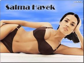 The hottest pictures of Salma Hayek in a bikini or other swimwear. The star of many movies including Once Upon A Time In Mexico and Desperado. Salma Hayek is one of the biggest stars in Hollywood and well respected for her acting ability, and famously large boobs. Salma Hayek is one of the hottest ...