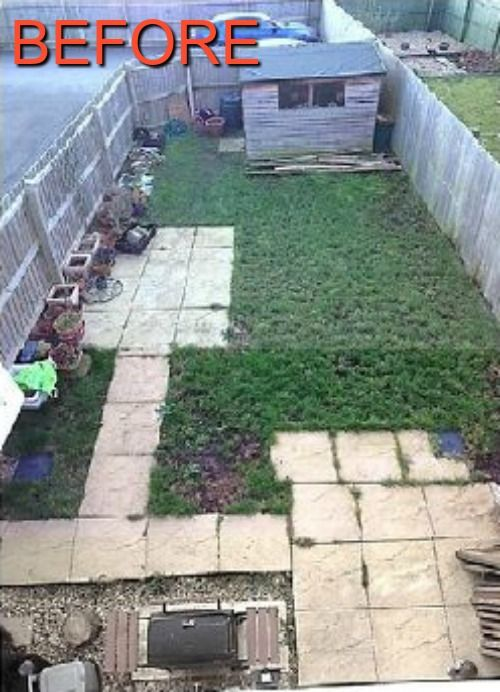 I bought my home end of October and spent 4 months looking at this awful garden through winter. I just couldn't handle looking at it any longer, so I decided I would have to do something about it. I really couldn't afford to get anyone to help me (very ti