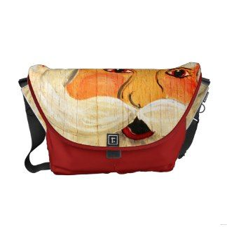 Vintage plywood Santa Messenger Bag