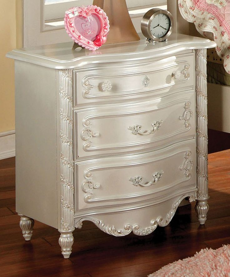 Loving this Pearl White Alexia Three-Drawer Nightstand on #zulily! #zulilyfinds