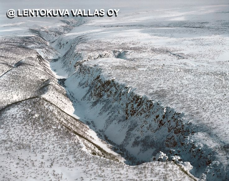 Ilmakuva: Utsjoki, Kevon kanjoni Kuva: Lentokuva Vallas Oy