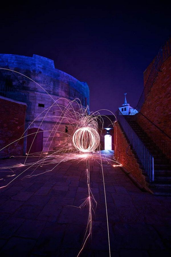 Light painting is a popular topic on Flicker and other photo sharing sites in the last couple of years. It is a photographic technique in which a design is created on a photographic image with a so…