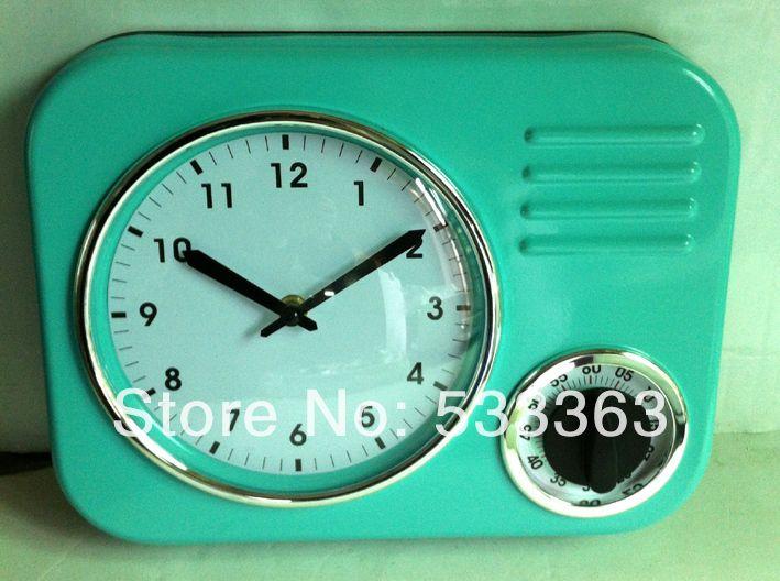 moderne keuken muur klokken retro klok met timer