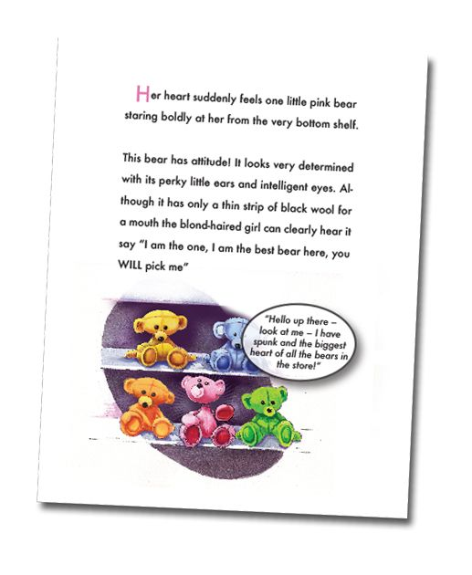 "Page sample from the Adventures of Fat Bear and Friends series by Deborah Kerridge book 3 ""Paddy Paws Joins the Clan"" Children's stories that combine the joy of reading with emotional growth."