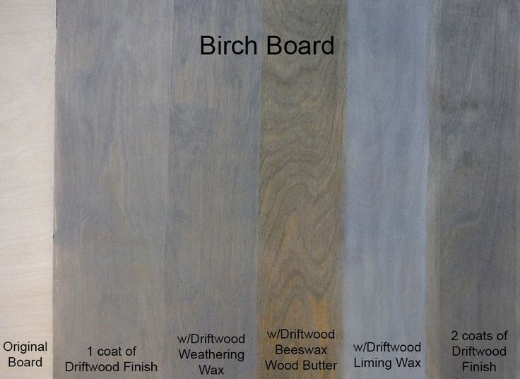 Sample Birch Board Using Driftwood Weathered Wood Finish