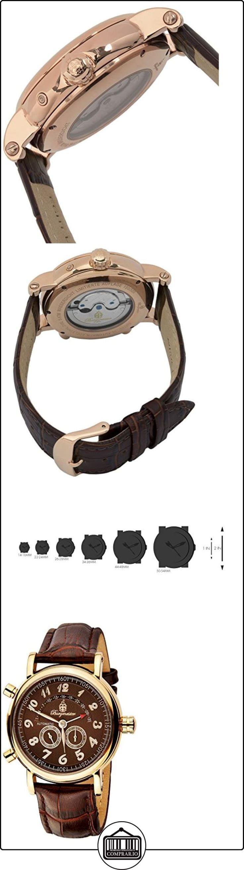 Burgmeister Nevada BM105-395 - Reloj de caballero automático, correa de piel color marrón  ✿ Relojes para hombre - (Gama media/alta) ✿