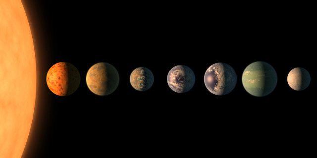 """La NASA ha tenuto una conferenza stampa per comunicare nuovi risultati nelle ricerche sul sistema della stella TRAPPIST-1. Questi risultati sono stato anche descritti in un articolo pubblicato sulla rivista """"Nature"""". Utilizzando dati raccolti dal telescopio Spitzer della NASA, un team di ricercatori guidato da Michaël Gillon dell'Istituto di ricerca Space sciences ha confermato l'esistenza di ben 7 pianeti in questo sistema, tutti rocciosi. Leggi i dettagli nell'articolo!"""
