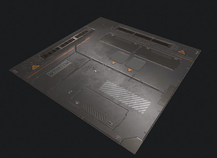 Sci-fi Floor Panel, Kai Li on ArtStation at https://www.artstation.com/artwork/lO39a