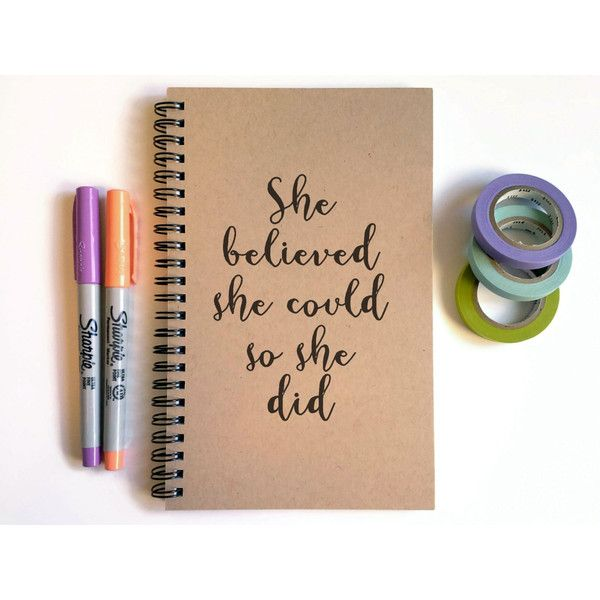 Writing journal, spiral notebook, cute diary, sketchbook, scrapbook... ($7) ❤ liked on Polyvore featuring home, home decor and stationery