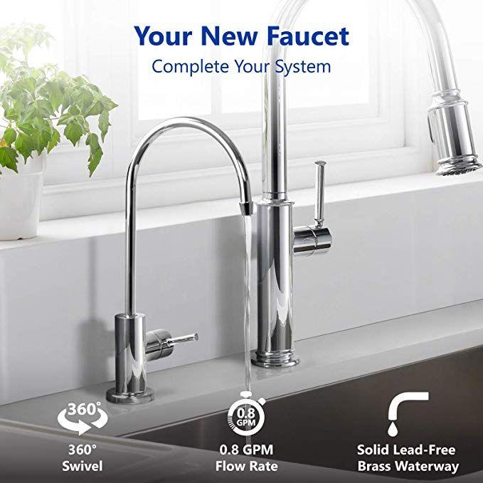 modern chrome water filter faucet