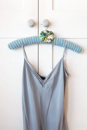 Stripey coat hanger - Knitting Magazine - Crafts Institute