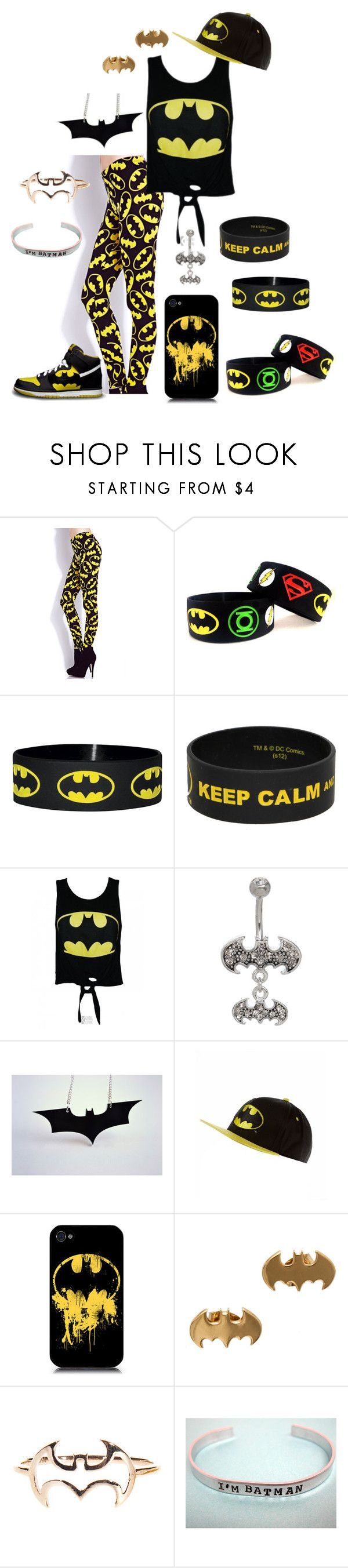 """""""Untitled #16"""" by lunairefantome on Polyvore featuring Forever 21, Hot Topic, NIKE, nOir and batman"""