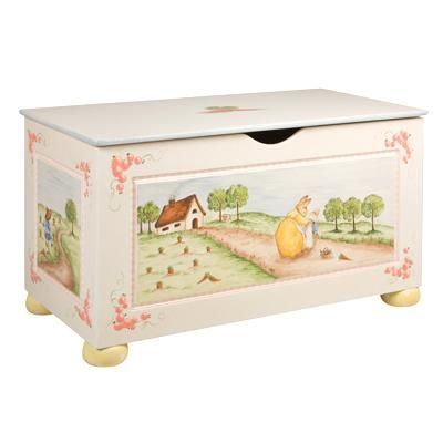 Enchanted Forest Bun Feet Toy Chest from www.wellappointedhouse.com